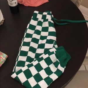 New without tags forever 21 checkered joggers